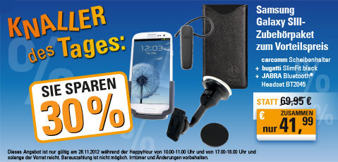 Happy Hour Angebot #7 – Samsung Galaxy SIII Zubehörpaket