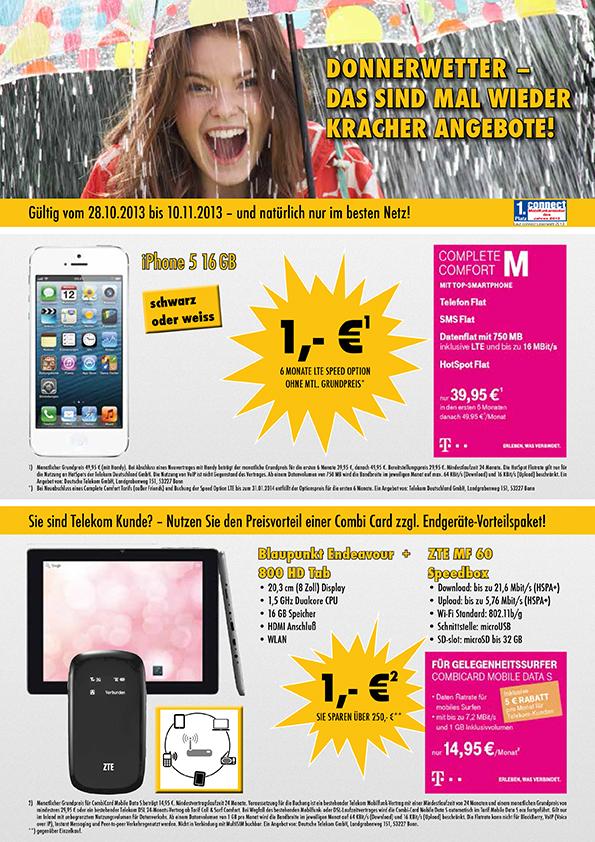 iPhone 5 mit 16GB + Complete Comfort M – nur 1.-€!