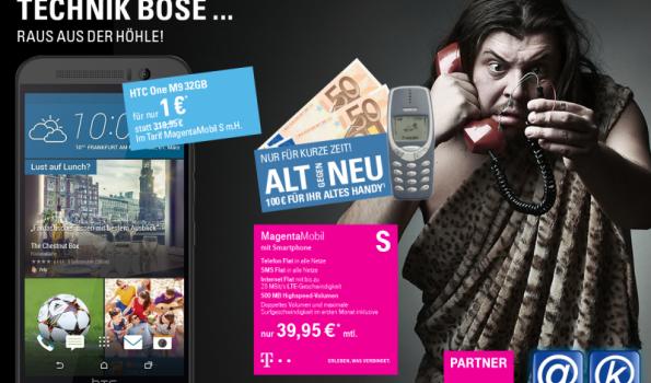 HTC One M9 32GB + 100.-€ Auszahlung im MagentaMobil S mit Handy